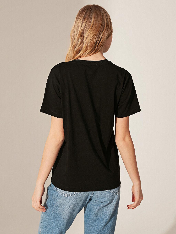 Kadın Nasa Baskılı Pamuklu Tişört