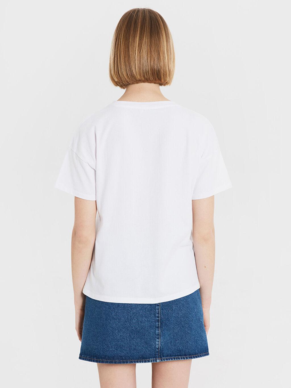 %100 Pamuk Baskılı Pamuklu Tişört
