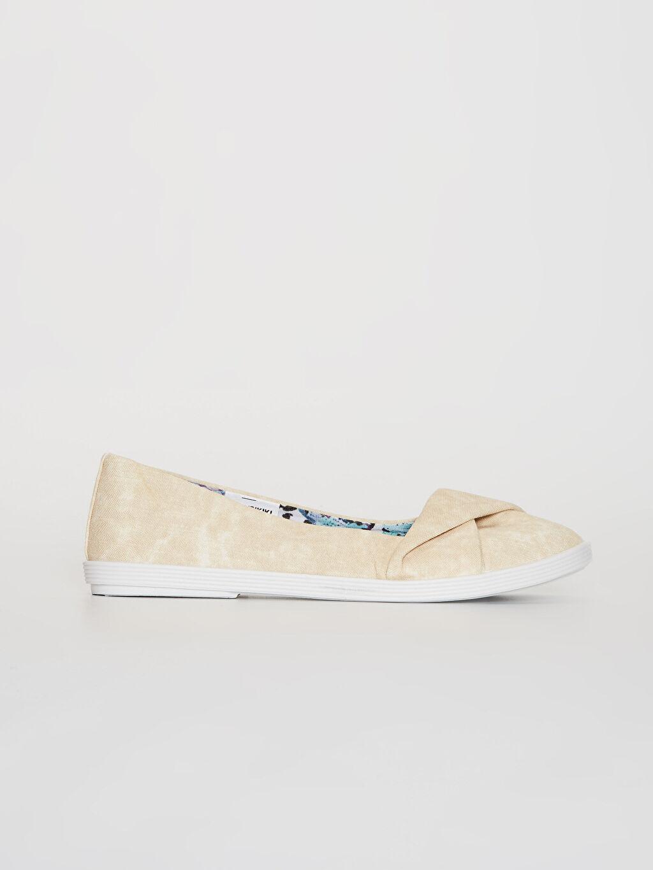 Bej Kadın Babet Ayakkabı 0SC507Z8 LC Waikiki