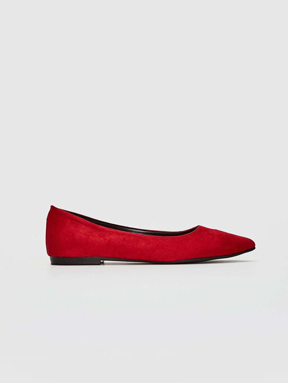 Kırmızı Kadın Süet Babet Ayakkabı 0SD442Z8 LC Waikiki
