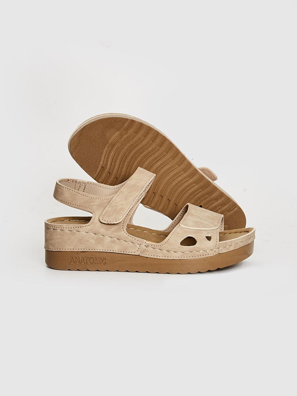 Kadın Kadın Kalın Taban Cırt Cırtlı Sandalet