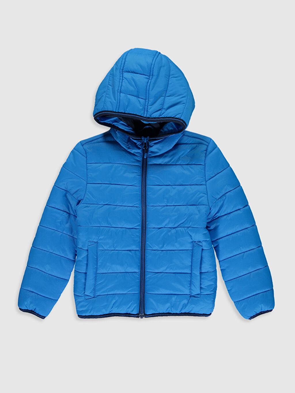 Mavi Erkek Çocuk Kapüşonlu Şişme Mont 0S0046Z4 LC Waikiki
