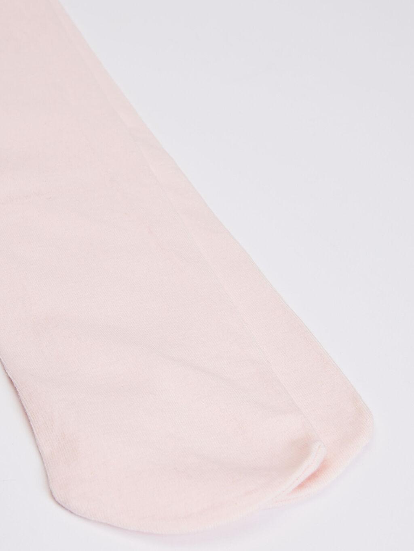 %80 Pamuk %18 Poliamid %2 Elastan  Kız Çocuk Külotlu Çorap