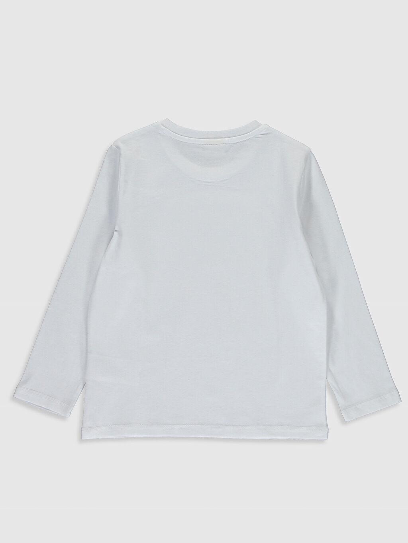 %100 Pamuk Düz Normal Bisiklet Yaka Tişört Uzun Kol Erkek Çocuk Pamuklu Basic Tişört