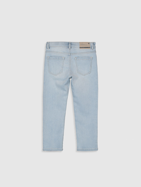 %99 Pamuk %1 Elastane Dar Normal Bel Erkek Çocuk Slim Jean Pantolon