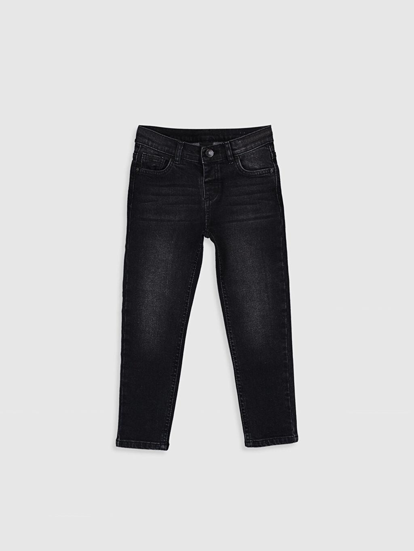 Siyah Erkek Çocuk Slim Jean Pantolon 0S0501Z4 LC Waikiki