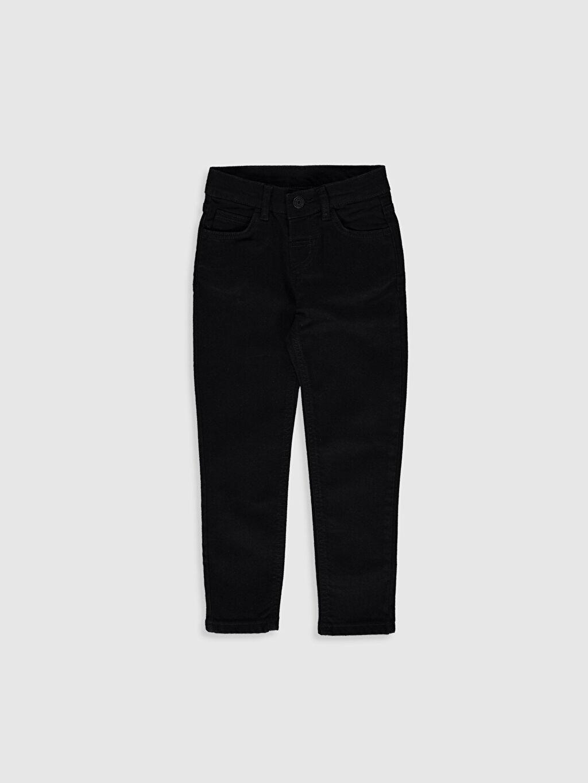 Siyah Erkek Çocuk Skinny Jean Pantolon 0S0503Z4 LC Waikiki