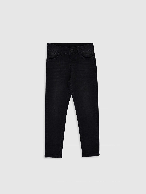 Siyah Erkek Çocuk Skinny Jean Pantolon 0S0506Z4 LC Waikiki