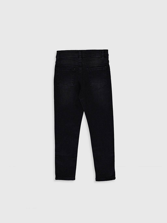 %98 Pamuk %2 Elastan Normal Bel Dar Erkek Çocuk Skinny Jean Pantolon