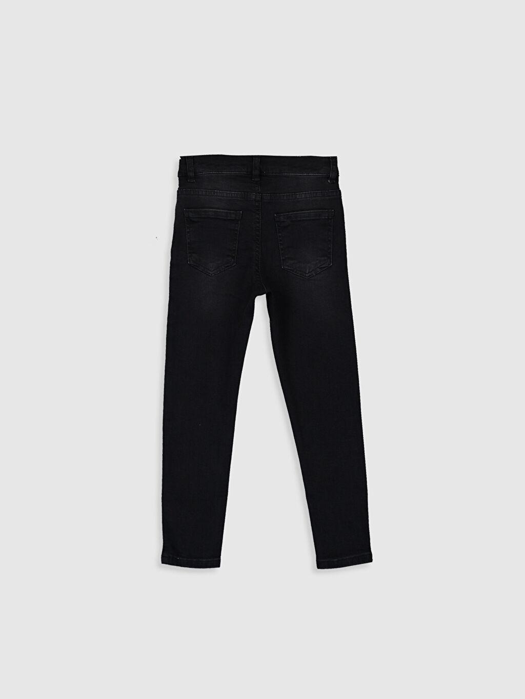 %98 Pamuk %2 Elastane Normal Bel Dar Erkek Çocuk Super Skinny Jean Pantolon