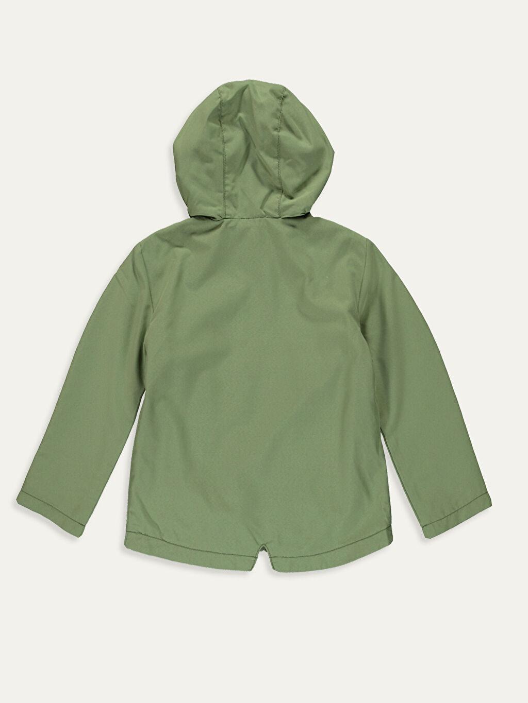 %100 Polyester %100 Pamuk İnce Mont Kız Çocuk Kapüşonlu İnce Mont