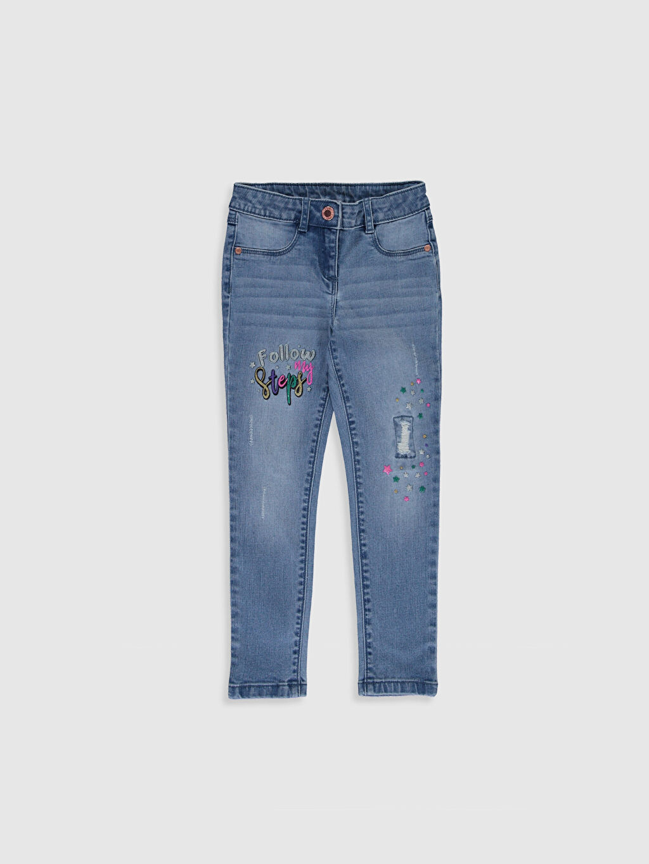 İndigo Kız Çocuk Slim Jean Pantolon 0S0635Z4 LC Waikiki