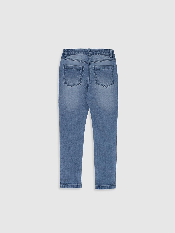%99 Pamuk %1 Elastan Normal Bel Dar Kız Çocuk Slim Jean Pantolon