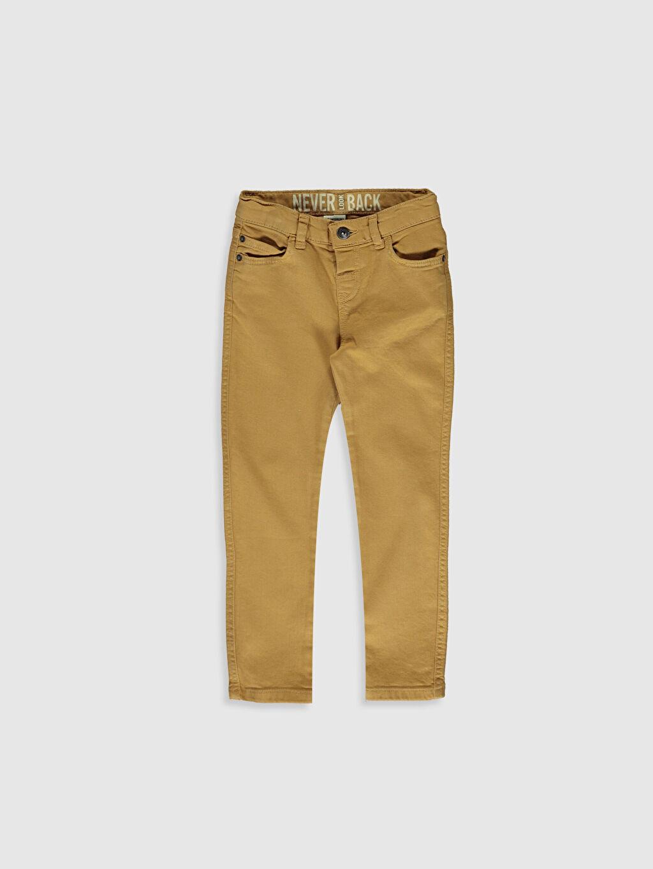 Sarı Erkek Çocuk Super Slim Gabardin Pantolon 0S0648Z4 LC Waikiki