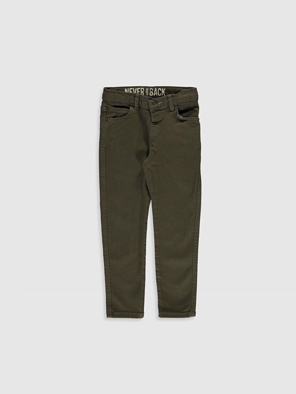 Haki Erkek Çocuk Super Slim Gabardin Pantolon 0S0648Z4 LC Waikiki