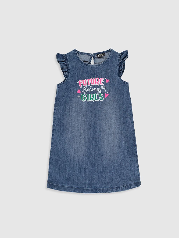 İndigo Kız Çocuk Jean Elbise 0S0727Z4 LC Waikiki