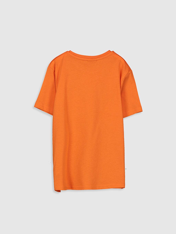 %100 Pamuk Baskılı Normal Bisiklet Yaka Tişört Kısa Kol Erkek Çocuk Yazı Baskılı Pamuklu Tişört