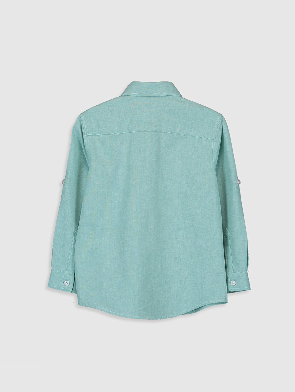 %75 Pamuk %25 Polyester Düz Standart Uzun Kol Erkek Çocuk Uzun Kollu Oxford Gömlek