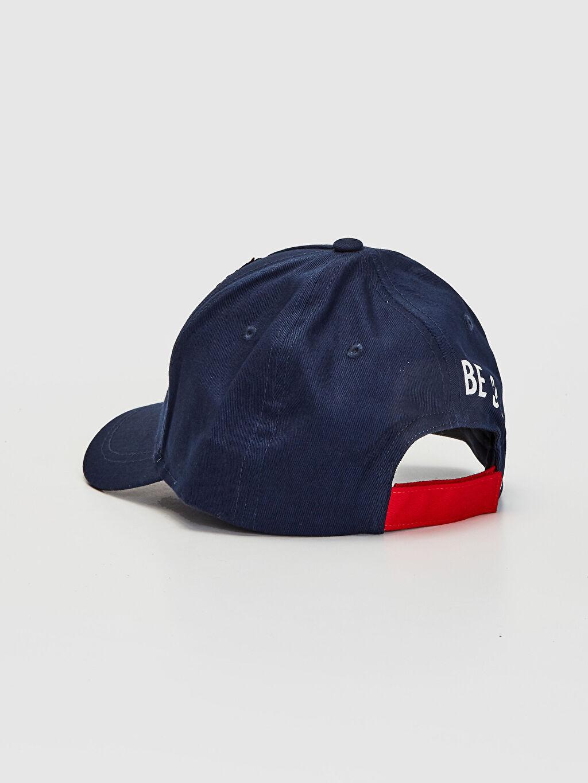 %100 Pamuk Erkek Çocuk Çift Taraflı Pul Payetli Şapka