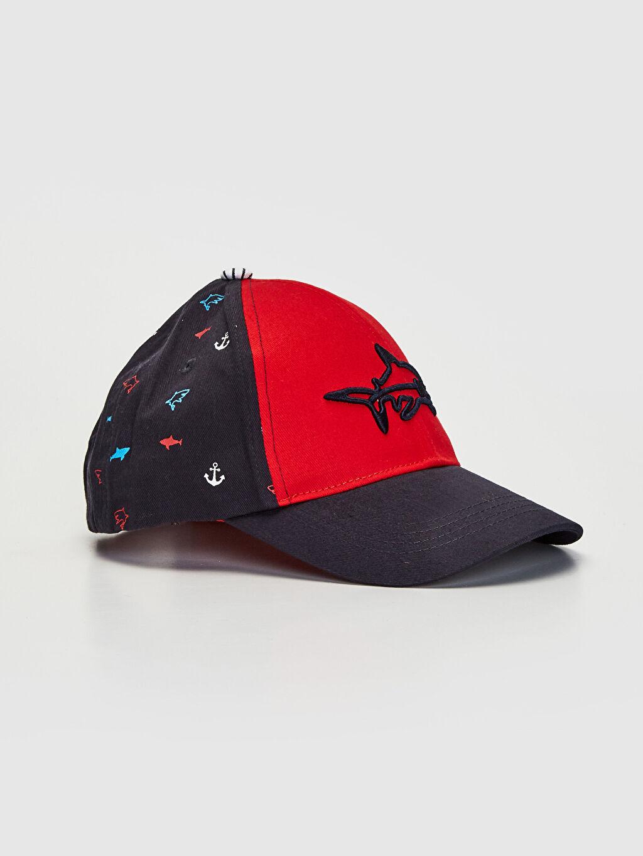 Lacivert Erkek Çocuk Köpek Balığı Nakışlı Şapka 0S0941Z4 LC Waikiki