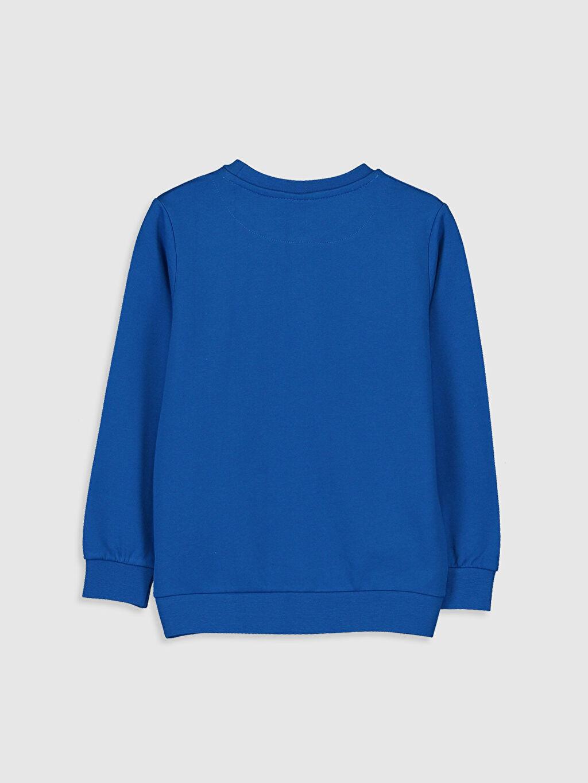 %67 Pamuk %33 Polyester  Erkek Çocuk Yazı Baskılı Sweatshirt