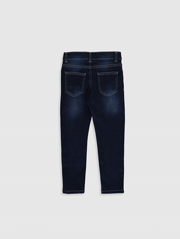 %99 Pamuk %1 Elastan Normal Bel Dar Erkek Çocuk Skinny Jean Pantolon