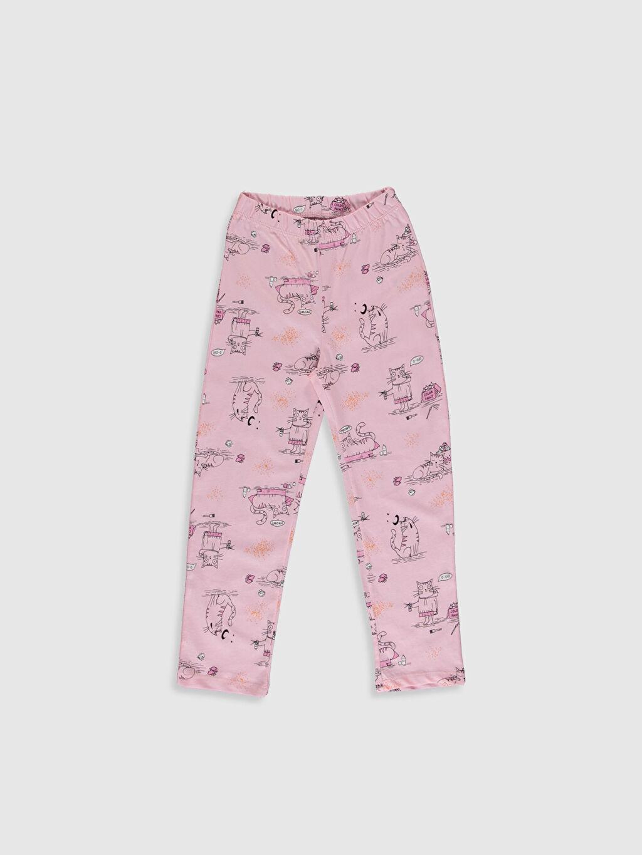 %48 Pamuk %52 Polyester Kız Çocuk Baskılı Pijama Takımı