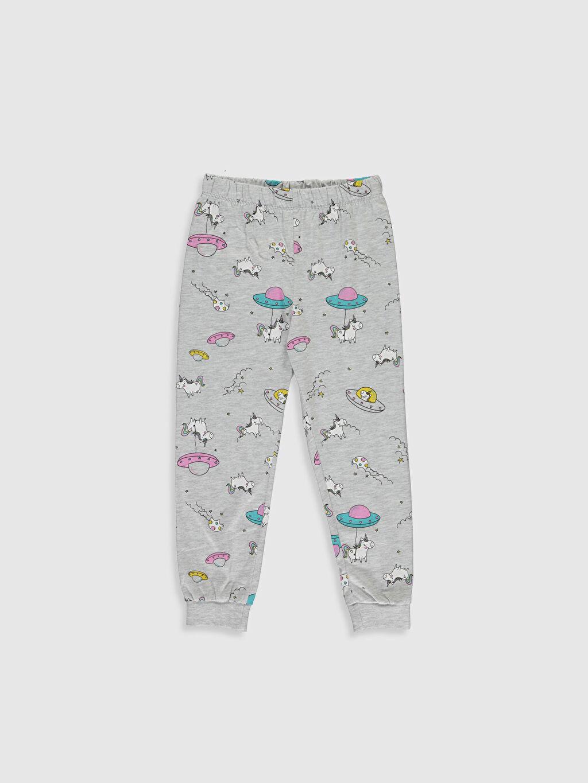 %100 Pamuk Kız Çocuk Unicorn Baskılı Pamuklu Pijama Takımı