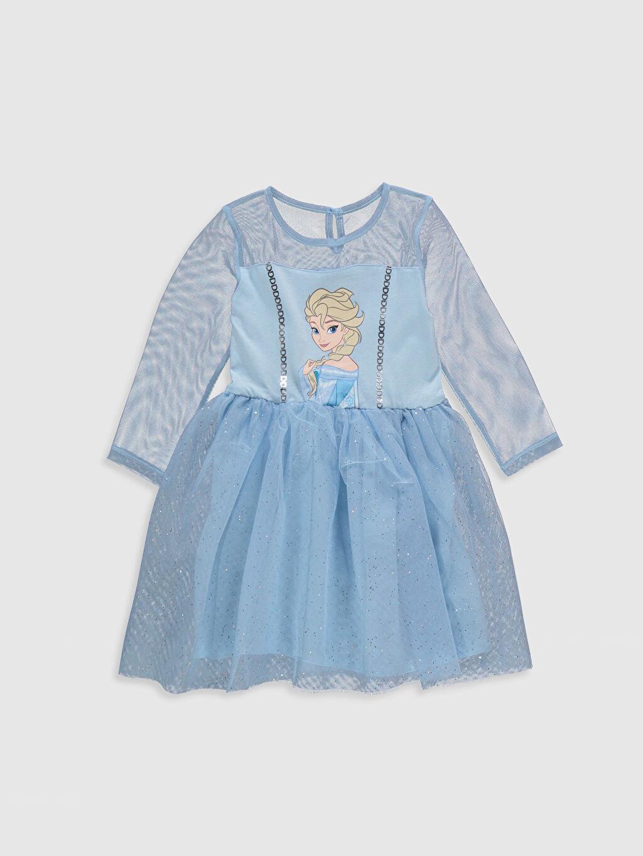 Mavi Kız Çocuk Elsa Baskılı Elbise 0S1465Z4 LC Waikiki