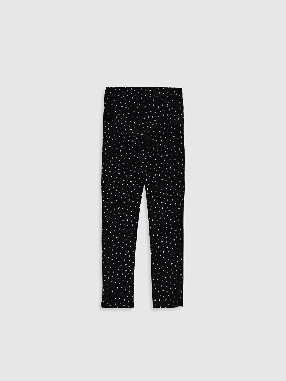 %67 Pamuk %29 Polyester %4 Elastan Normal Bel Standart Kız Çocuk Desenli Skinny Pantolon