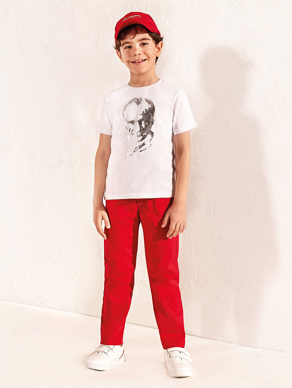 %97 Pamuk %3 Elastan Erkek Çocuk Pantolon