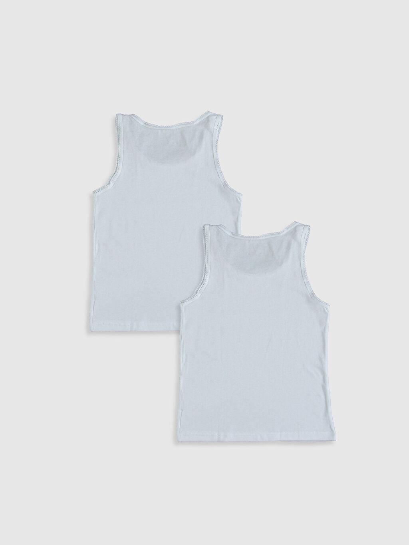 %100 Pamuk Standart İç Giyim Alt Kız Çocuk Pamuklu Atlet 2'li
