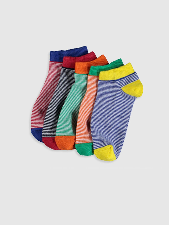 Çok Renkli Erkek Çocuk Patik Çorap 5'li 0S1808Z4 LC Waikiki