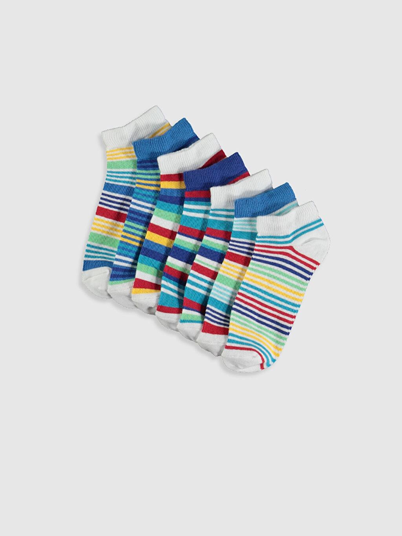 Çok Renkli Erkek Çocuk Patik Çorap 7'li 0S1823Z4 LC Waikiki