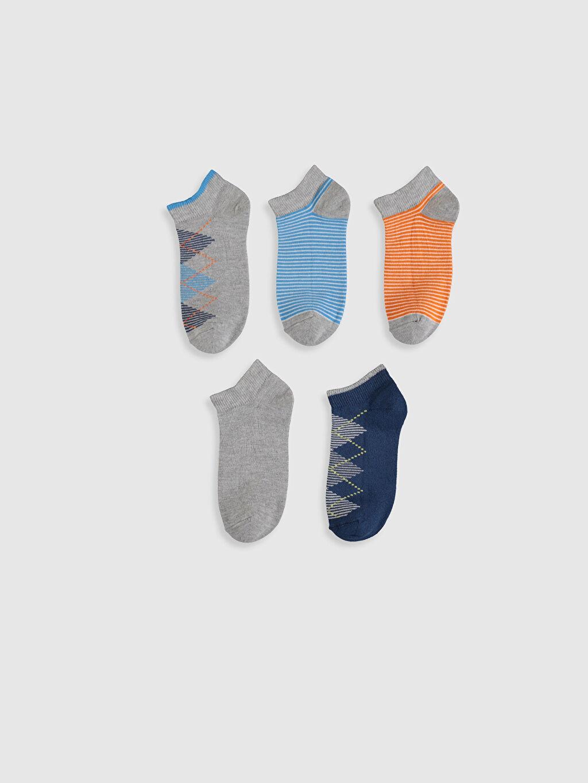 %57 Pamuk %22 Polyester %19 Poliamid %2 Elastan  Erkek Çocuk Patik Çorap 5'li