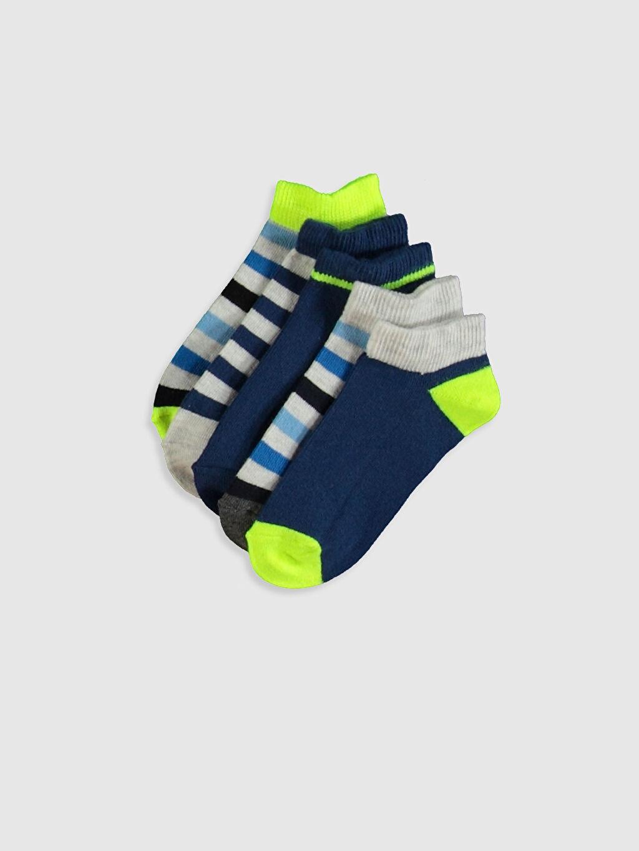 Çok Renkli Erkek Çocuk Patik Çorap 5'li 0S1825Z4 LC Waikiki