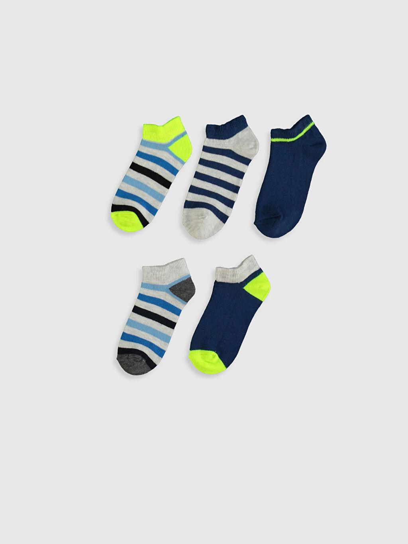 %64 Pamuk %15 Polyester %19 Poliamid %2 Elastan  Erkek Çocuk Patik Çorap 5'li