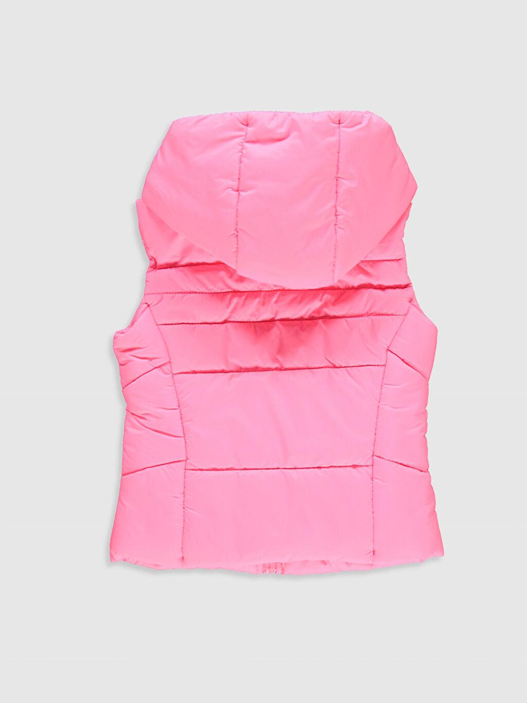 %100 Polyester %100 Polyester Orta Yelek Kız Çocuk Fermuarlı Kapüşonlu Şişme Yelek