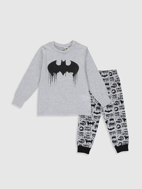 Siyah Erkek Çocuk Batman Baskılı Pijama Takımı 0S2196Z4 LC Waikiki