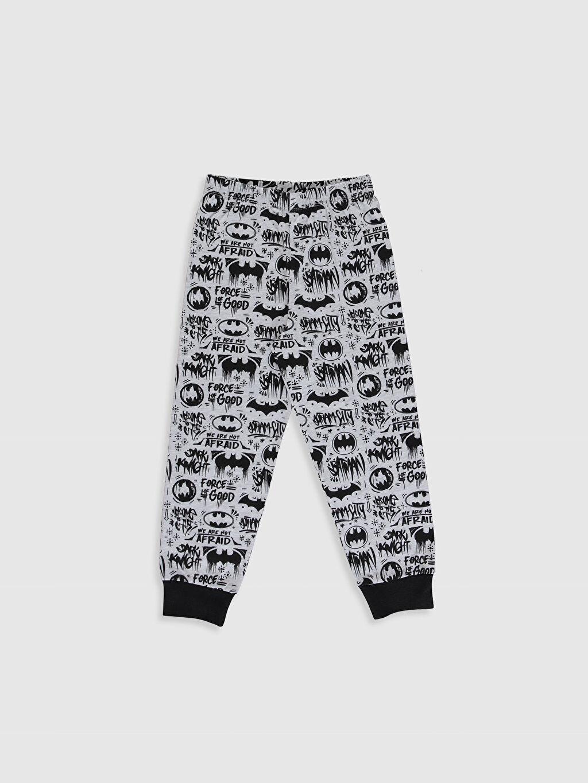 %68 Pamuk %32 Polyester Erkek Çocuk Batman Baskılı Pijama Takımı