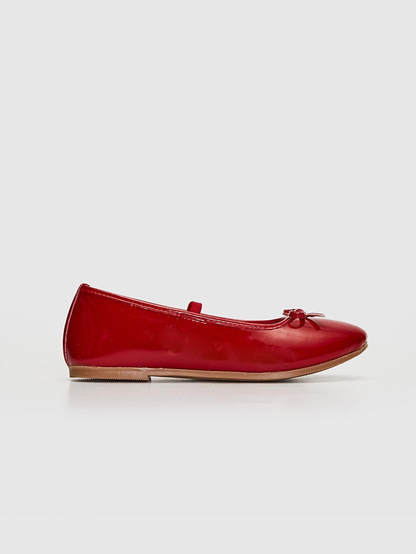Kırmızı 23 Nisan Kız Çocuk 25-30 Numara Babet Ayakkabı 0S2333Z4 LC Waikiki