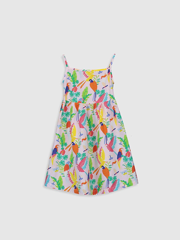 Pembe Kız Çocuk Desenli Elbise 0S2442Z4 LC Waikiki