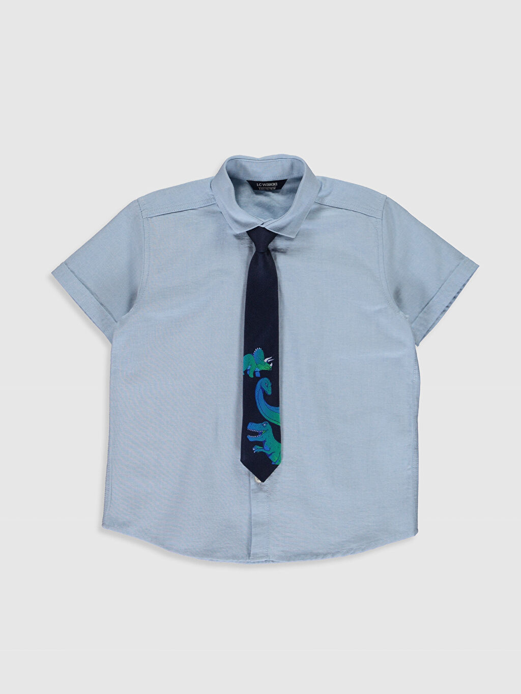 Mavi Erkek Çocuk Poplin Gömlek ve Kravat 0S2501Z4 LC Waikiki