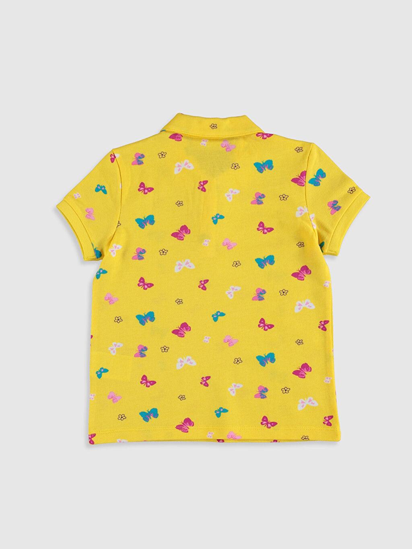 %100 Pamuk Baskılı Kısa Kol Tişört Polo Standart Kız Çocuk Baskılı Pamuklu Polo Yaka Tişört