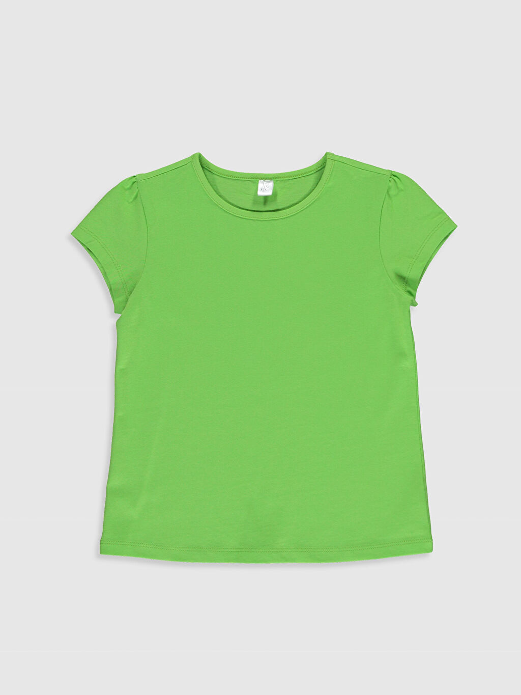 Yeşil Kız Çocuk Pamuklu Basic Tişört 0S2543Z4 LC Waikiki