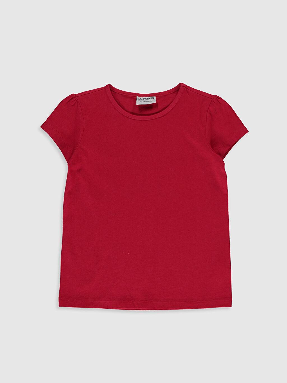 Kırmızı Kız Çocuk Pamuklu Basic Tişört 0S2543Z4 LC Waikiki