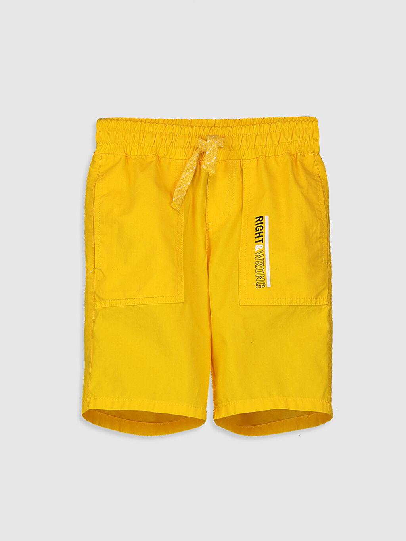 Sarı Erkek Çocuk Pamuklu Bermuda 0S2575Z4 LC Waikiki