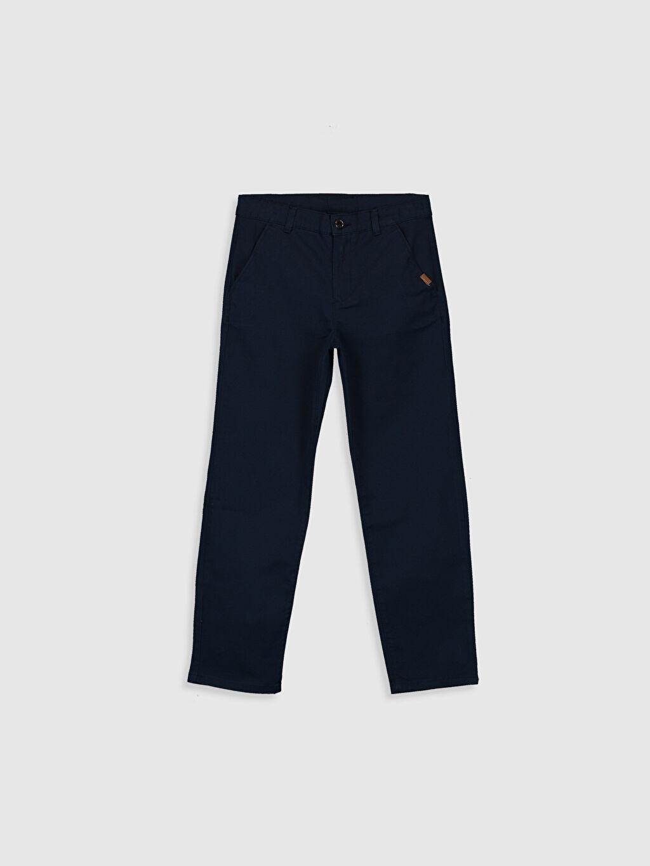 Lacivert Erkek Çocuk Slim Chino Pantolon 0S2580Z4 LC Waikiki