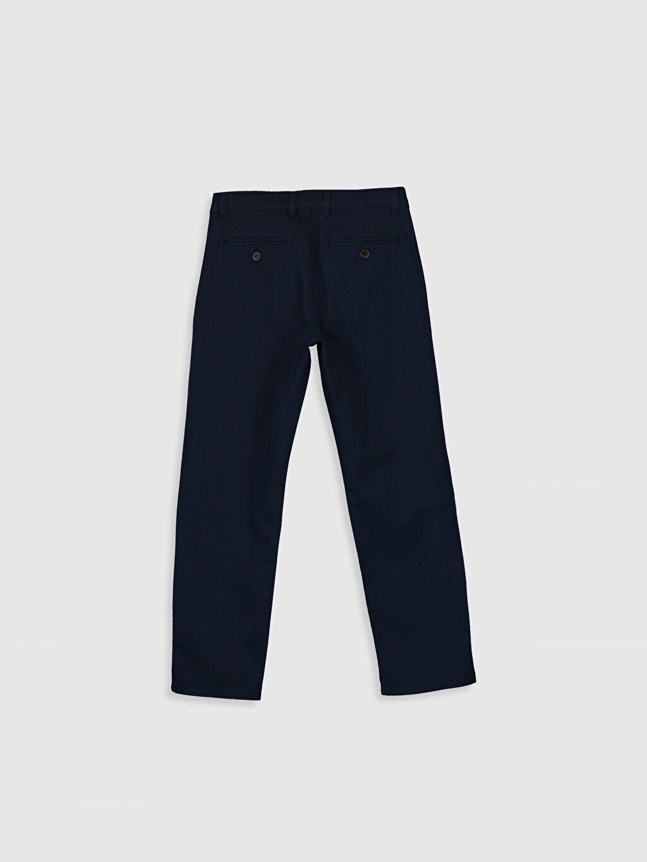 %98 Pamuk %2 Elastan Dar Normal Bel Erkek Çocuk Slim Chino Pantolon