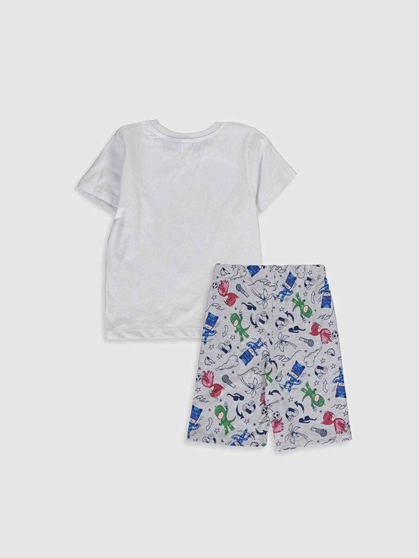 %100 Pamuk Standart Pijamalar Erkek Çocuk Pijamaskeliler Pijama Takımı